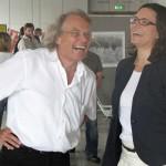 A. Heimann mit Meike Leupold von der Dietmar-Hopp-Stiftung