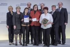 Bürgerstiftung Salzland mit Petra Gerster und Laudatoren (Foto: Kai Bienert)
