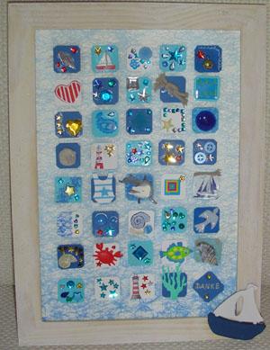 Collage zum Thema Meer von den Kindern des Kreativtreffs als Dank an die Unterstützer