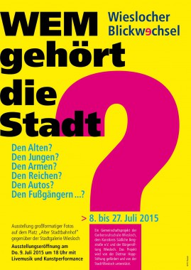 Plakat Wem gehört A3 akt