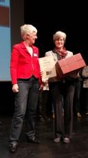 Dagmar Hirche, Vors. von WADE e.V., mit R. Stindl (Foto: WADE)